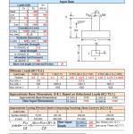 Isolated Foundation Calculation Spreadsheet