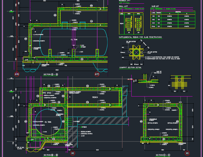 Oil Tank Reinforcement detail free drawing