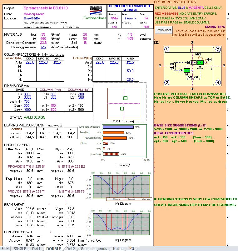Foundation Design Spreadsheet