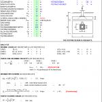 Plain Concrete Footing Design Spreadsheet