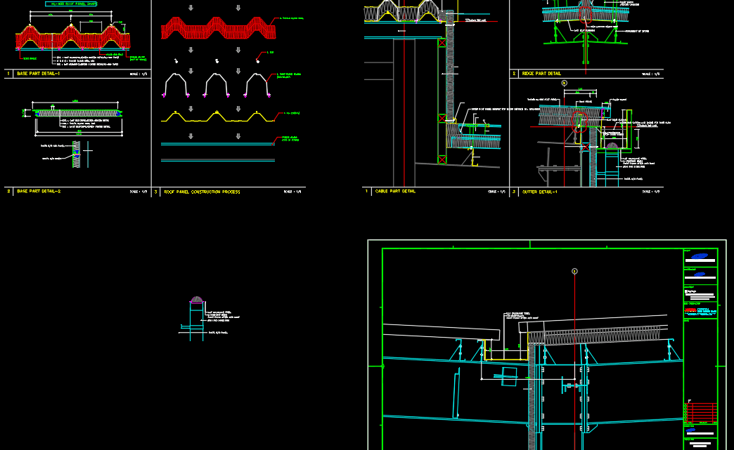 Press Building Panel Detail Free DWG