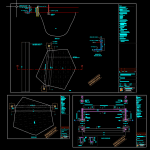 Retaining Wall and Well Details Free DWG