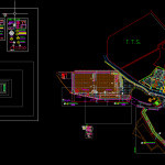 Road Layout Plan and cross section free DWG