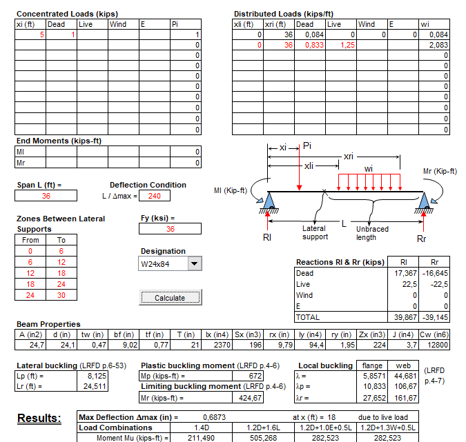 Steel Beam Calculation Note