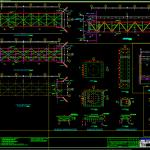 Steel Bridge details Free DWG
