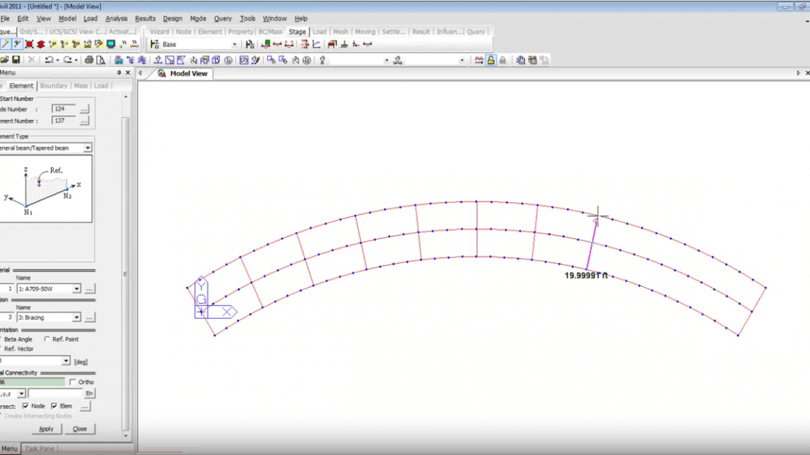 Steel Composite Curved Girder Bridge Design MIDAS