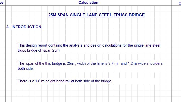 Steel Truss Bridge Design Report