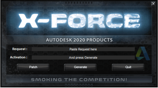 x-Force keygen for ALL Autodesk products v2020