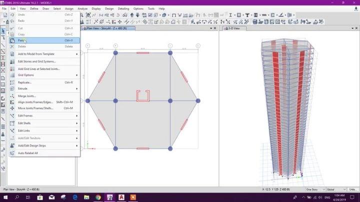 Advanced Modeling with Merging Models in ETABS