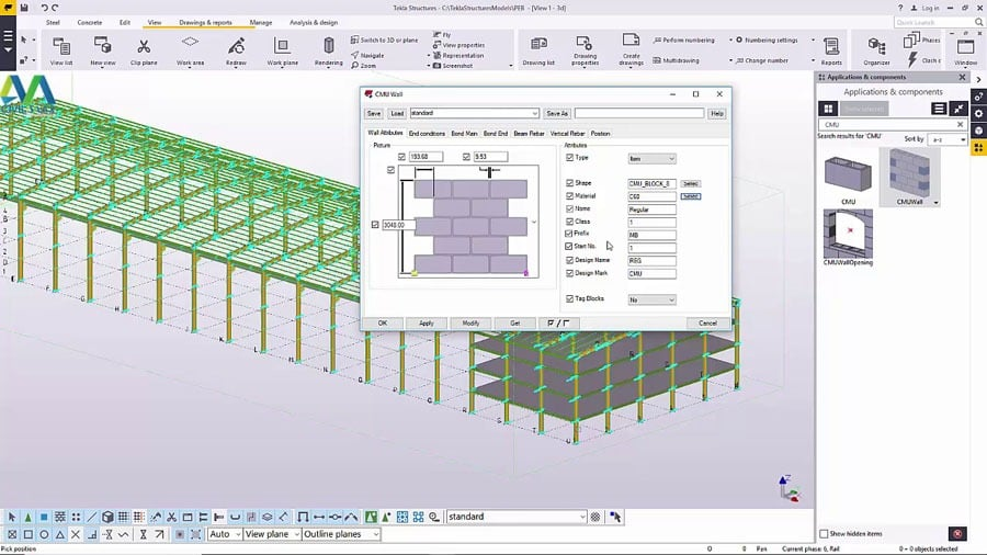 Create Wall Cladding in Tekla Structures