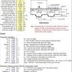 Slab on metal deck analysis spreadsheet