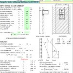 Design of Girder at Masonry Wall Spreadsheet