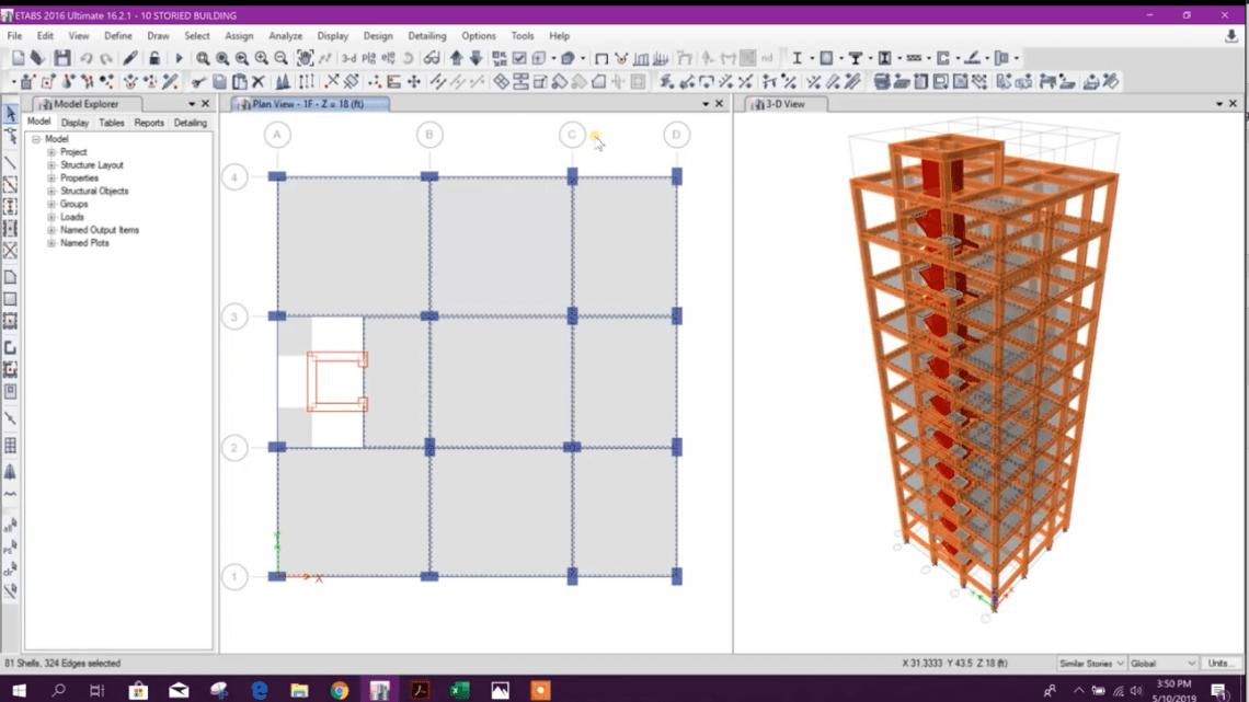 10 Storied Building Design in Etabs - (Part 04)