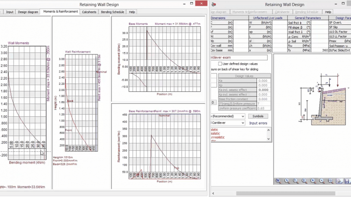 Analysis and design of Cantilever Retaining Wall Using Prokon