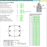 Anchorage to Pedestal Design Spreadsheet