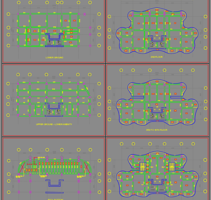 As-Built Structural Keyplan Autocad Drawing
