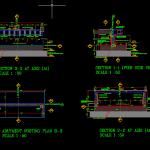 Bridge Abutment Details Autocad Drawing