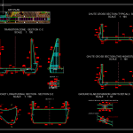 Chute And Flip Bucket Reinforcement Typical Sections Autocad Drawing