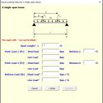Computer Aided Design Beam Spreadsheet