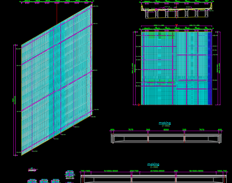 Deck Slab Reinforcement Details Autocad Drawing
