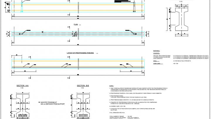 Girder Framework Plan Free Drawing