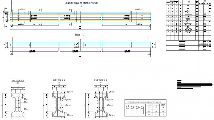 Girder Reinforcement Details Free Autocad Drawing