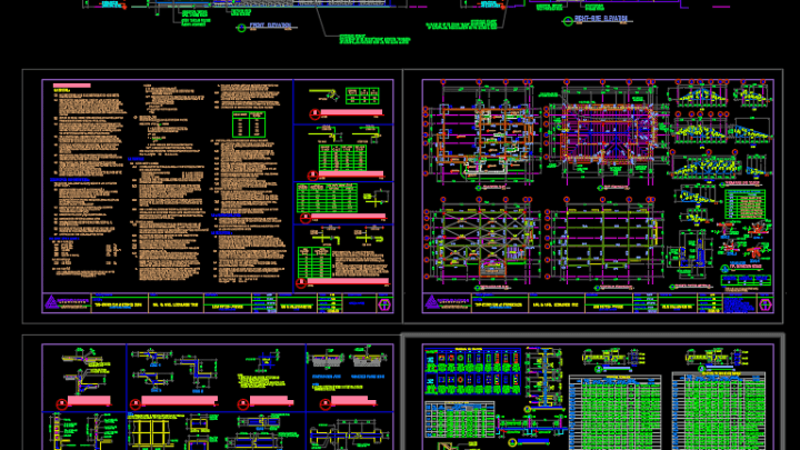 Gym and Spa Structural Details Autocad Drawing