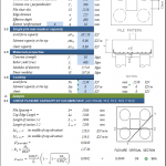 Pile Cap Design for Piles According to ACI 318-08 Spreadsheet