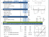 Pile Cap Design for Piles According to ACI 318-08 Spreadsheet