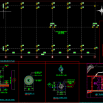 Pile Head Arrangement Plan Autocad Drawing