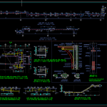 Slab and Stairs Reinforcement Details Autocad Drawing