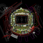 Stadium Layout Plan Free Drawing