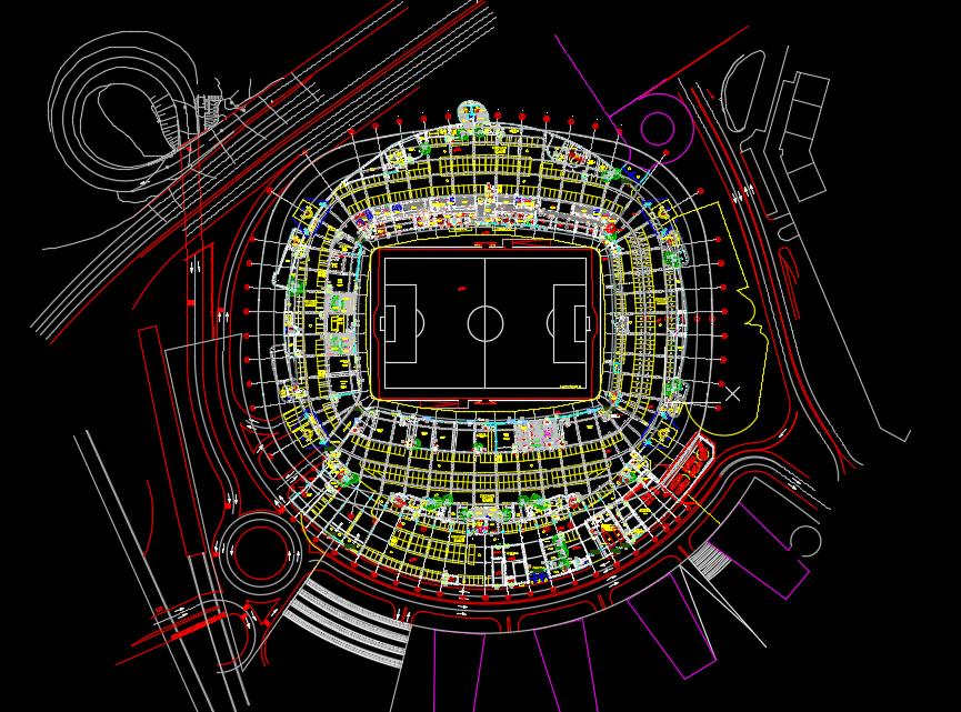 Stadium Layout Plan Free Drawing