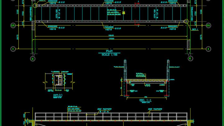 Steel Bridge Details Autocad Drawing
