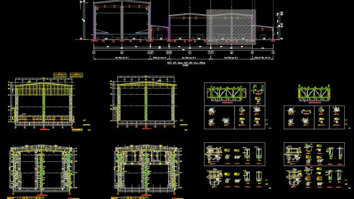 Steel Frame Details Free Drawing