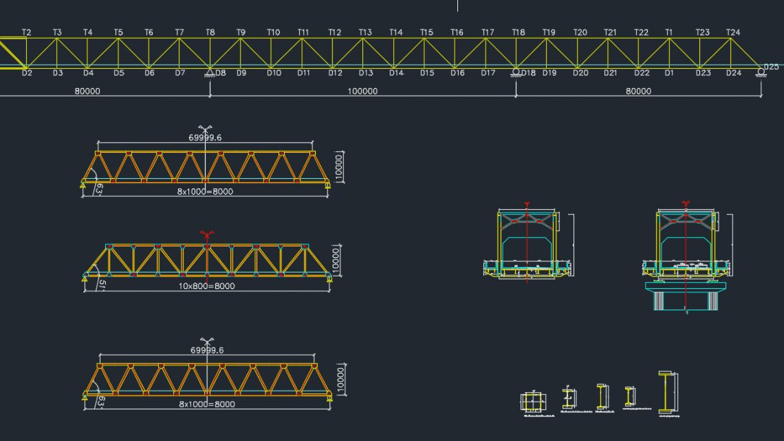 Steel Truss Bridge Free Drawing