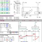 Strap Footing Design Spreadsheet