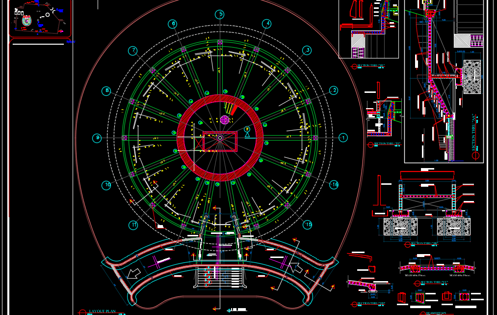 Structural Ground Floor Details Autocad Drawing