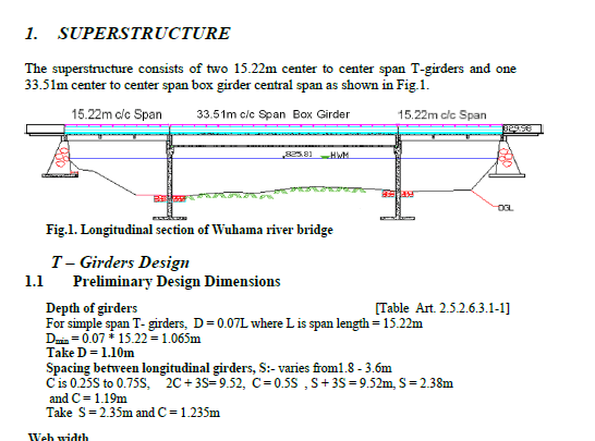 T-Girder Design Example Note