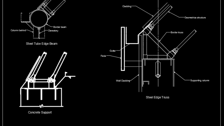 Typical Dome Support Details Autocad Drawing