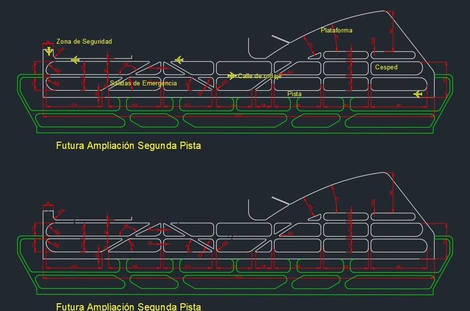 Airport Runway Design Autocad Drawing
