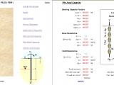 Axial and Lateral Load Piles Excel Sheet