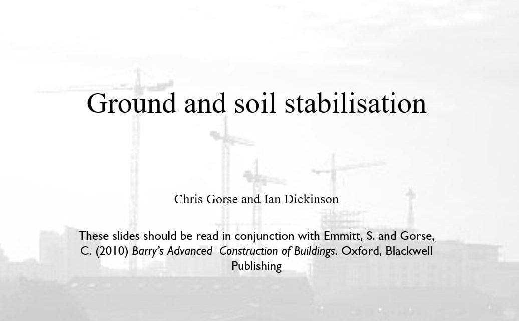 Ground and Soil Stabilisation Presentation