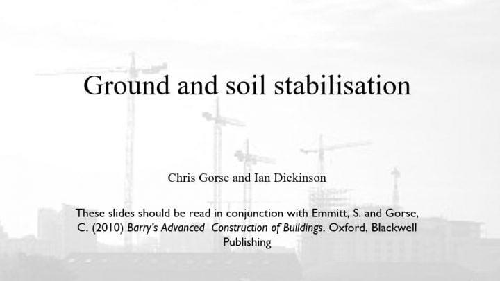 Ground and Soil Stabilisation Presentation