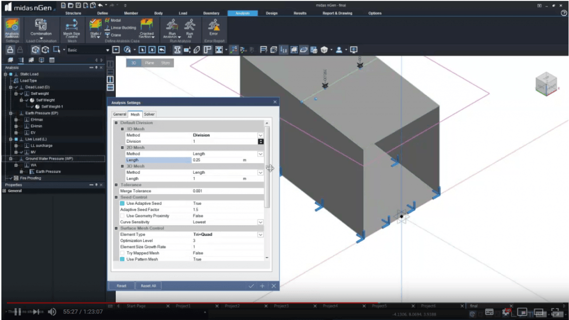 How to Analysis a Box Culvert in Midas nGen
