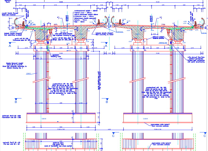 Standard Pier View Autocad Free Drawing