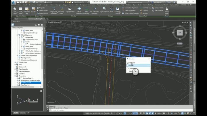 Tying into an Existing Road with AutoCAD Civil 3D