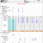 Bore Pile Design BS 8004 Excel Sheet