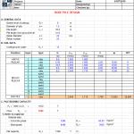 Bore Pile Design BS 8004 Excel Sheet