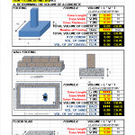 Construction Estimate calculator Excel Sheet